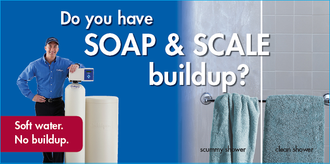Do you have soap and scale buildup? Soft water. No buildup.