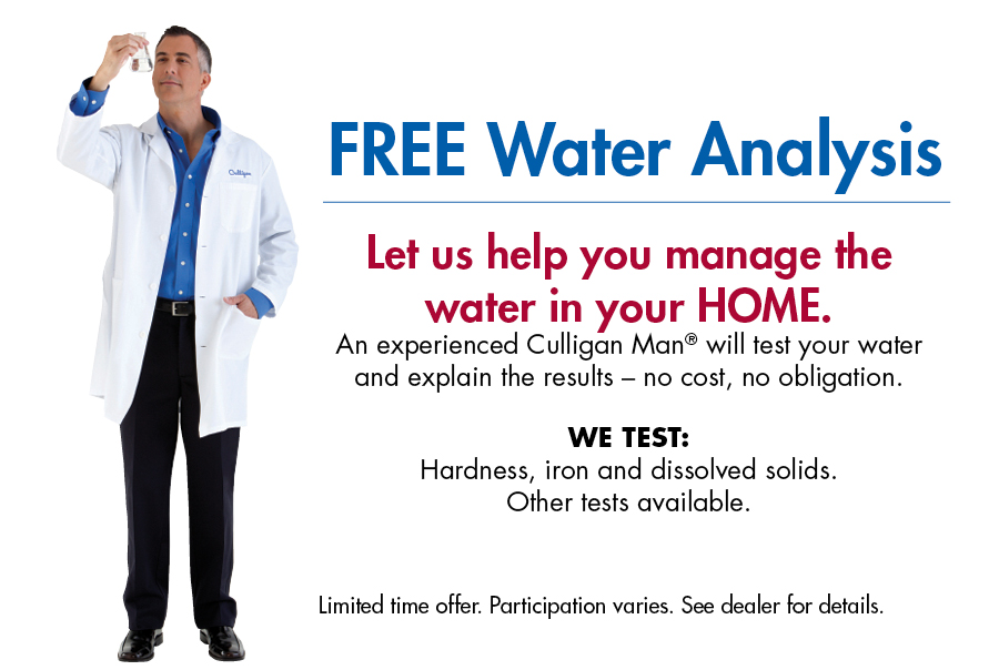 Free Professional In Home Water Analysis L Culligan Water